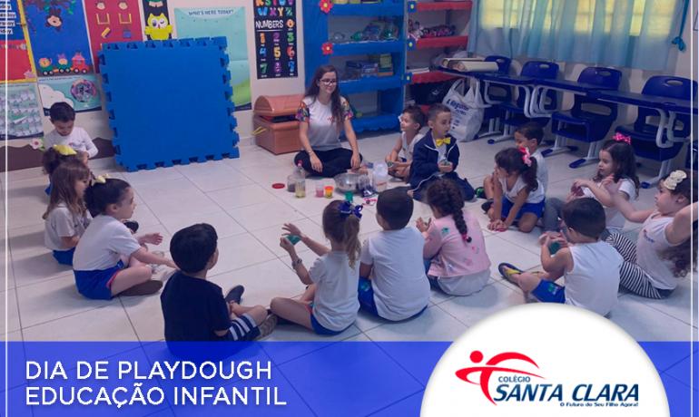 Dia de playdough – Educação infantil